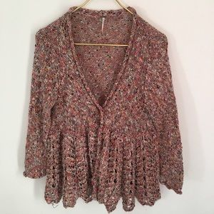 FREE PEOPLE Multicolored Cardigan Size S